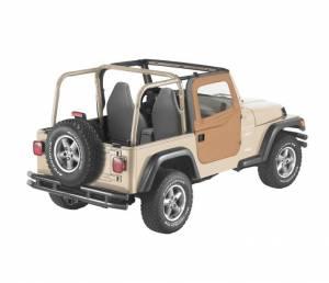 Exterior - Doors - Bestop - Bestop 2-piece Full Fabric Doors - Jeep 1997-2006 Wrangler 51789-37