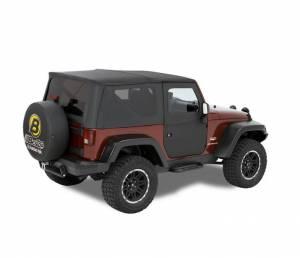 Exterior - Doors - Bestop - Bestop 2-piece full Fabric Doors; Front - Jeep 2007-2018 Wrangler JK 51798-35