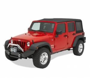 Exterior - Bumpers - Bestop - Bestop HighRock 4x4 Front Bumper; Full-width profile - Jeep 2007-2018 Wrangler JK 2DR & 42910-01