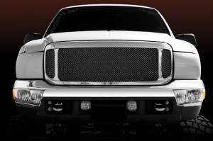 Exterior - Grilles - T-Rex - T-Rex Assembly Grille, Polished, Aluminum, 1 Pc, Replacement 50571