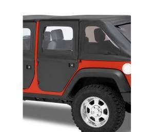 Exterior - Doors - Bestop - Bestop 2-piece full Fabric Doors; Front - Jeep 2007-2018 Wrangler JK Unlimited 51799-17