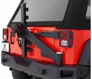 Exterior - Bumpers - Bestop - Bestop Tire Carrier Assembly for Rear Modular Bumper - 07-18 Wrangler JK 44943-01