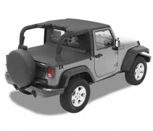 Tops & Parts - Soft Tops - Bestop - Bestop Header Bikini Top; Targa-style - Jeep 2007-2009 Wrangler 2DR 52580-35