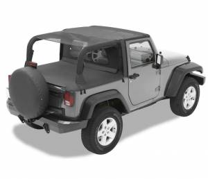 Tops & Parts - Soft Tops - Bestop - Bestop Header Bikini Top; Safari-style - Jeep 2007-2009 Wrangler 2DR 52585-11