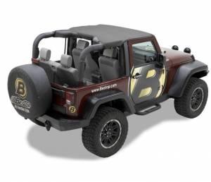 Tops & Parts - Soft Tops - Bestop - Bestop Header Bikini Top; Targa-style - Jeep 2010-2018 Wrangler JK 2DR 52586-35