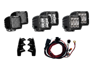 Lighting/Electrical - Lighting Accessories - RIGID Industries - RIGID Industries 2017-2018 FORD RAPTOR FOG LIGHT KIT INCLUDES MOUNTS & 6 D-SERIES 41610