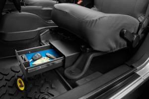 Interior - Cargo & Storage - Bestop - Bestop Underseat Lock Box - Jeep 2007-2018 Wrangler JK 2DR & 4DR 42640-01