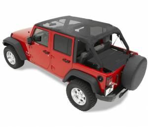 Tops & Parts - Soft Tops - Bestop - Bestop Header Bikini Top; Safari-style - Jeep 2007-2009 Wrangler Unlimited 52581-11