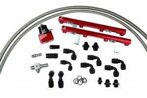 Aeromotive Fuel System - Aeromotive Fuel System 1996 thru 1998 1/2 Ford DOHC 4.6 Liter Fuel Rail Kit (Cobra) 14120