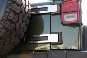 Exterior - Exterior Accessories - T-Rex - T-Rex T1 Exterior Trim, Polished, Stainless Steel, 2 Pc, Tape 10485