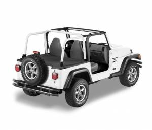 Exterior - Tonneau Covers - Bestop - Bestop Duster Deck Cover Jeep 2004-2006 Wrangler Unlimited 90024-35