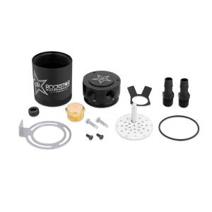 Performance - Oil System & Parts - Mishimoto - Mishimoto Rockstar Compact Baffled Oil Catch Can, 2-Port MMBCC-MSTWO-RKST