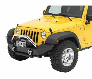 Exterior - Grille Guards and Bull Bars - Bestop - Bestop HighRock 4x4 Grill Guard - Jeep 2007-2018 Wrangler JK 2DR & 4DR 42915-00