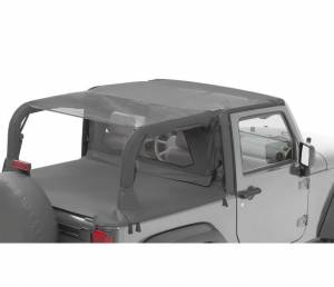 Tops & Parts - Soft Tops - Bestop - Bestop Header Bikini Top; Safari (Cable style) - Jeep 2010-2018 Wrangler JK 2DR 52593-11