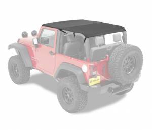 Tops & Parts - Soft Tops - Bestop - Bestop Header Bikini Top; Safari (Cable style) - Jeep 2010-2018 Wrangler JK 2DR 52593-35