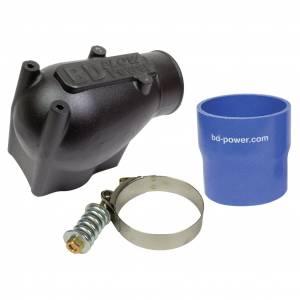 Air Intakes - Accessories - BD Diesel - BD Diesel X-Flow Power Intake Elbow (Black) - Ford 2003-2004 6.0L 1041570