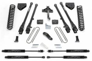 "Fabtech - 4"" 4 LINK SYSTEM W/ STEALTH SHOCKS (08-16 Ford F250/350)"