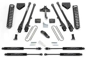 "Fabtech - 6"" 4 LINK SYSTEM W/ STEALTH SHOCKS (08-16 Ford F250/350)"