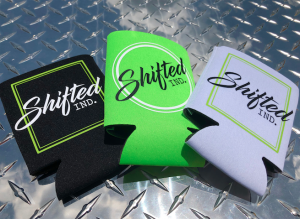 Shifted Apparel  - Accessories - Shifted Industries - Shifted Ind. Koozie Pack - White/Black/Lime