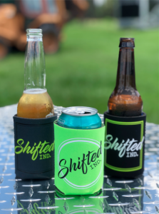 Shifted Apparel  - Accessories - Shifted Industries - Shifted Ind. Koozie Pack - Gray/Black/Lime