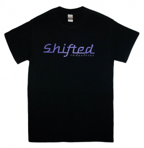 Shifted Industries - Shifted Industries Retro Shirt - Purple on Black