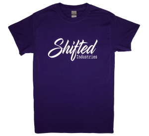 Shifted Industries - Shifted Industries Script Shirt - Purple